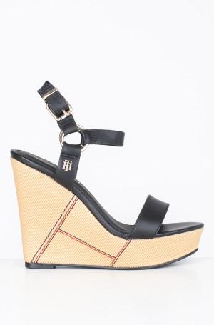 Platvormkingad Elevated Leather Wedge Sandal-1