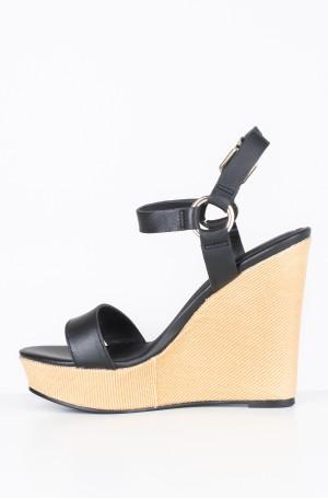Platvormkingad Elevated Leather Wedge Sandal-2