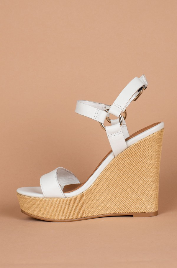 ELEVATED LEATHER WEDGE SANDAL-hover