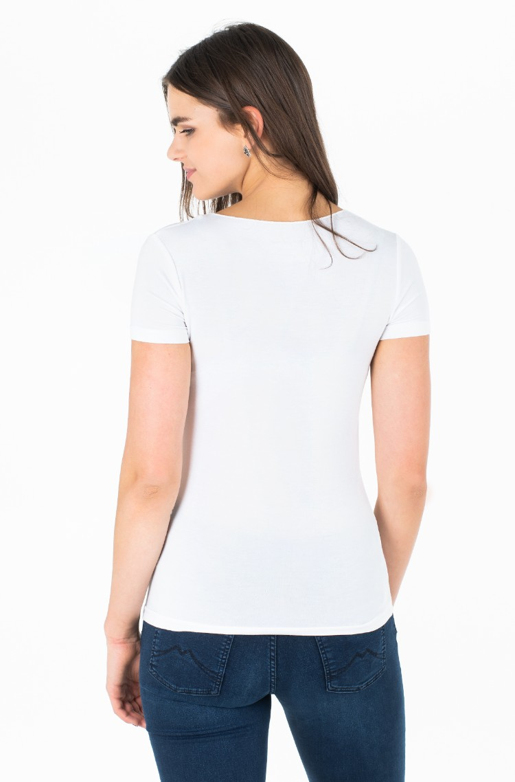 huge selection of 4cde1 10c1a White T-shirt DONNA/PL504053 Pepe Jeans, Womens Short-sleeve ...