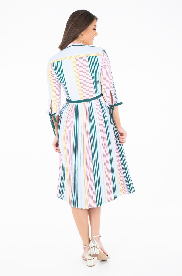 FANCY PLEATED DRESS LS-hover