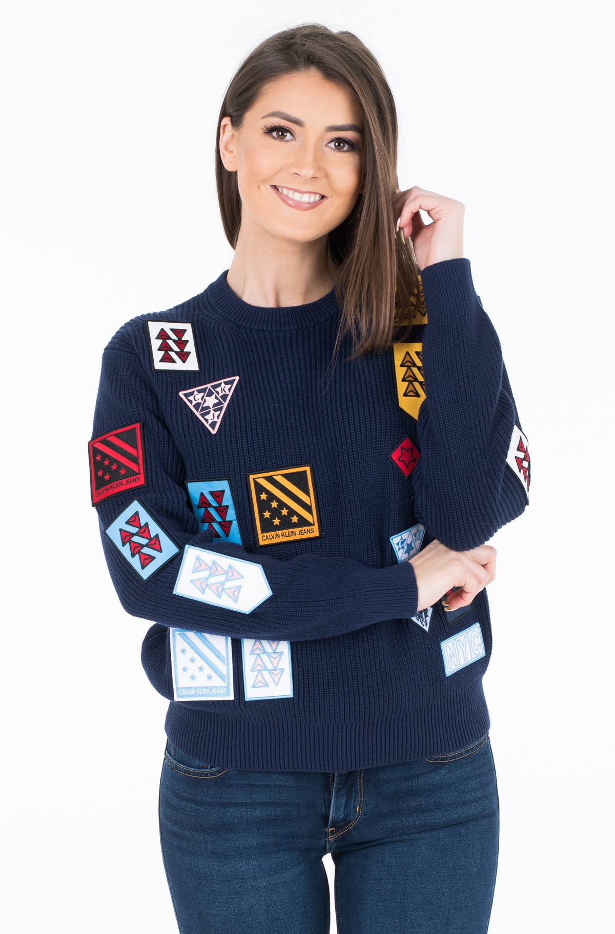 Megztinis BADGES CN SWEATER	-full-1
