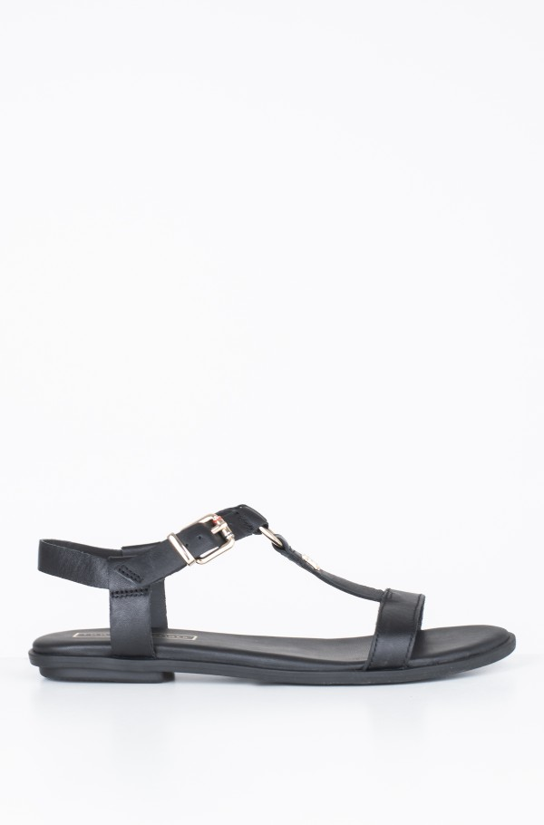 ELEVATED LEATHER FLAT SANDAL