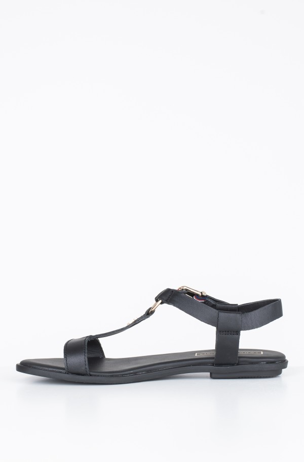 ELEVATED LEATHER FLAT SANDAL-hover