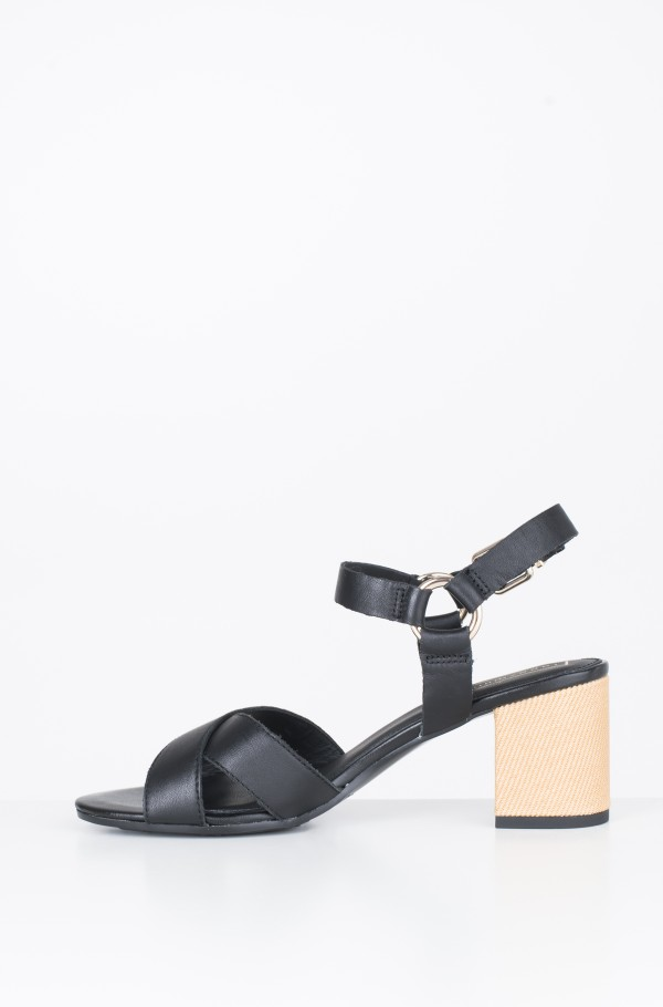 ELEVATED LEATHER HEELED SANDAL-hover