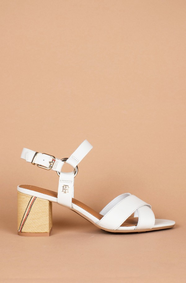 ELEVATED LEATHER HEELED SANDAL