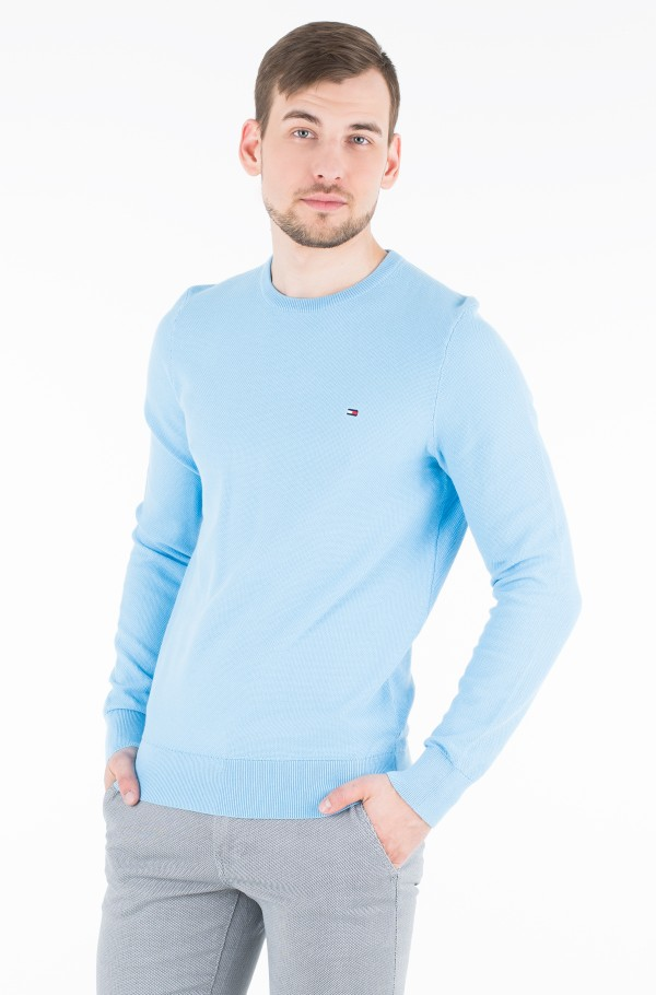 FINE STRUCTURED CREW NECK