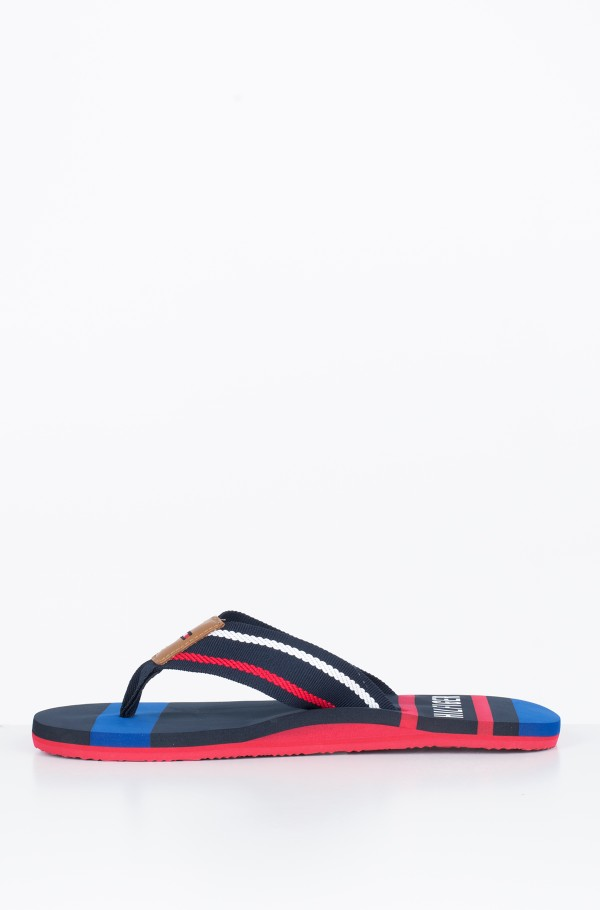 STRIPED BEACH SANDAL-hover