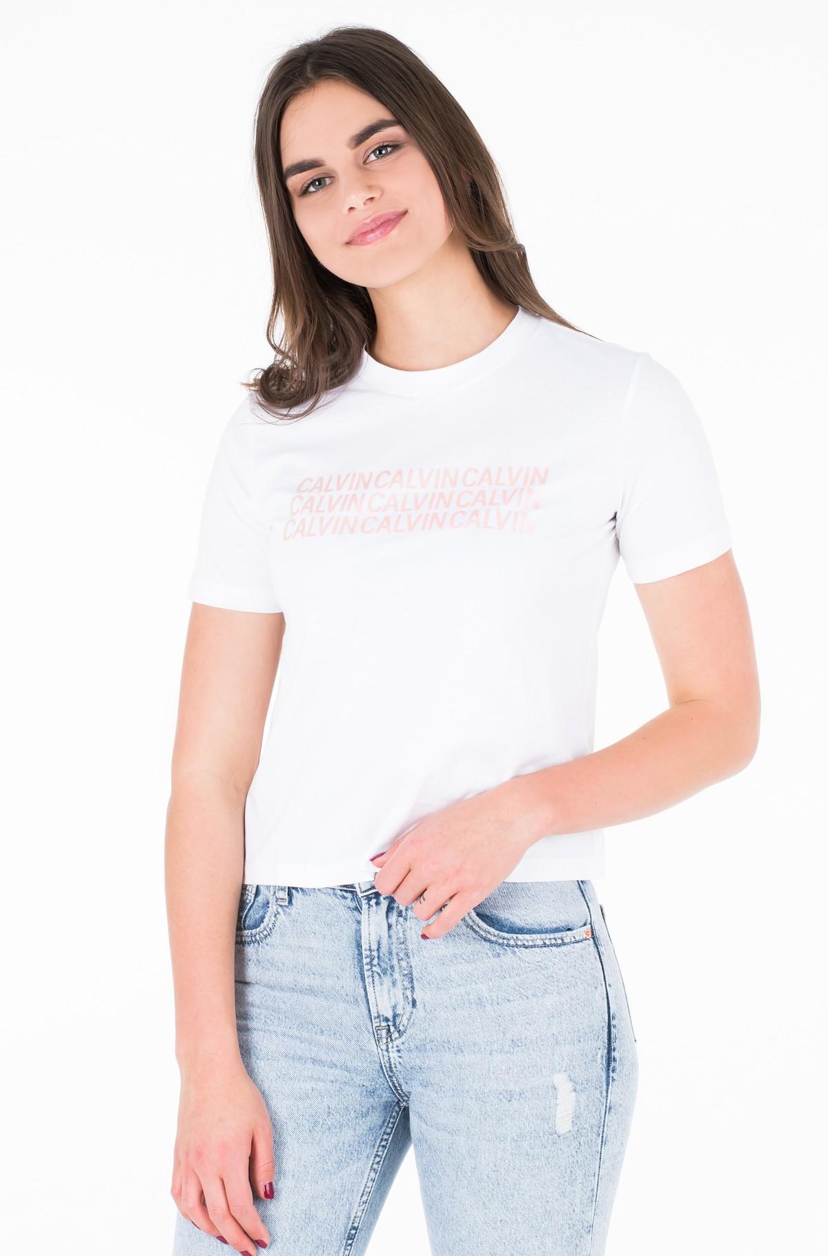 Marškinėliai PEARLIZED MULTI CALVIN TEE-full-1