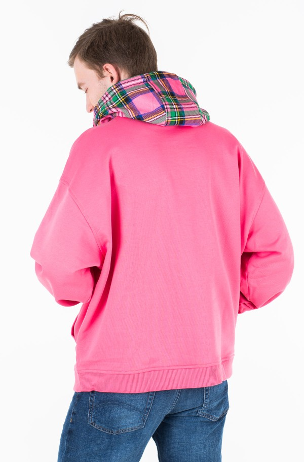 LH CHECK HOOD GRAPHIC HOODY-hover