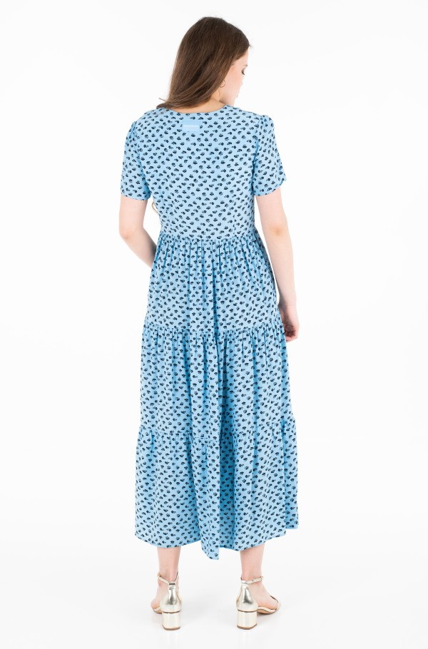 MIDI GATHERED SS DRESS-hover