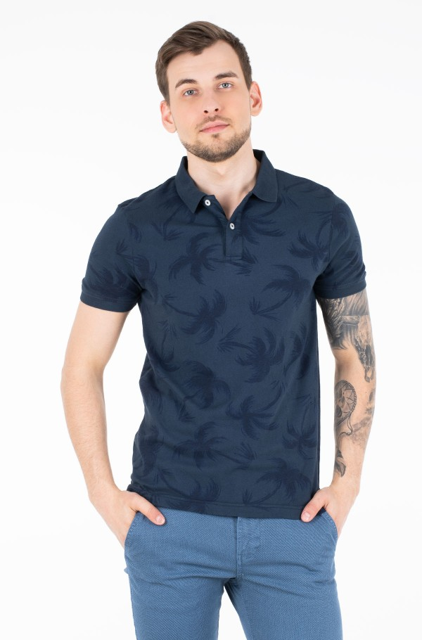 ALLOVER PALM GMD SLIM POLO