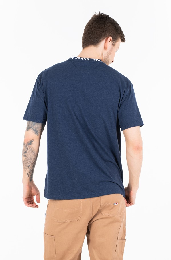TJM HEATHER BRANDED COLLAR TEE-hover