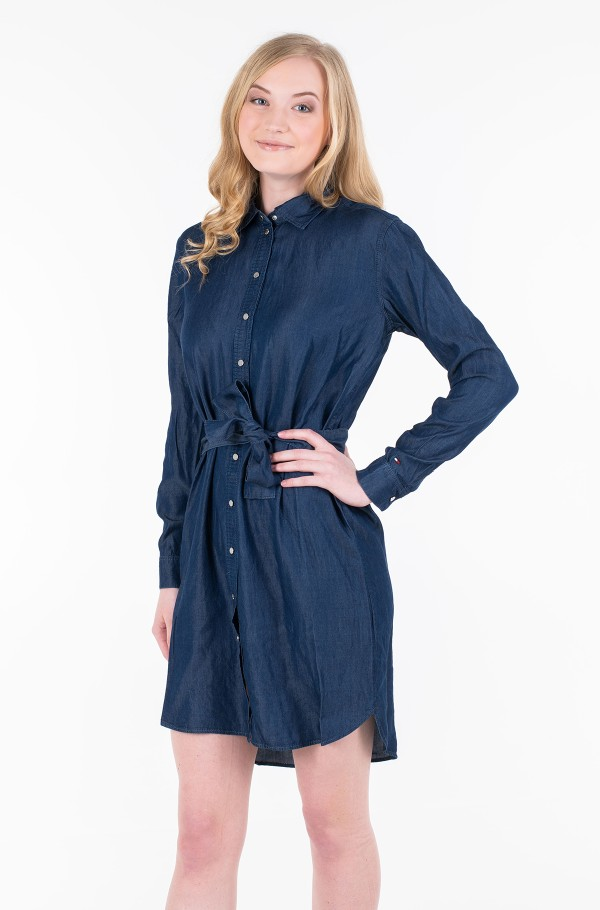 FARRA SHORT SHIRT DRESS LS