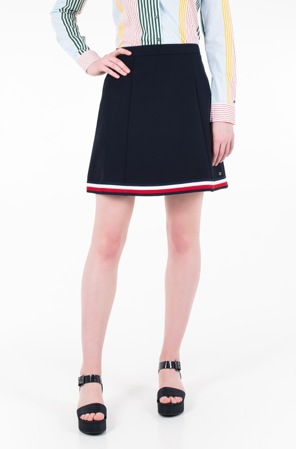 ANGELA GLOBAL STP SHORT SKIRT