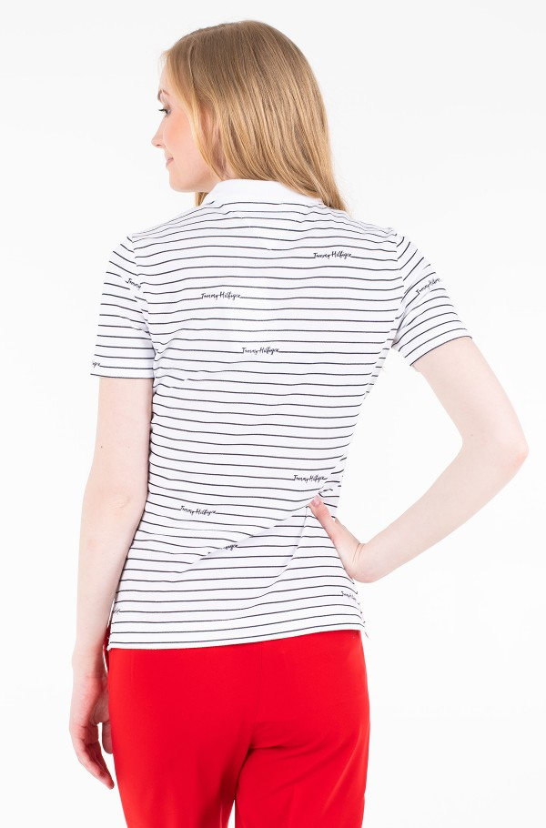 ELORA PRINTED REG POLO SS-hover