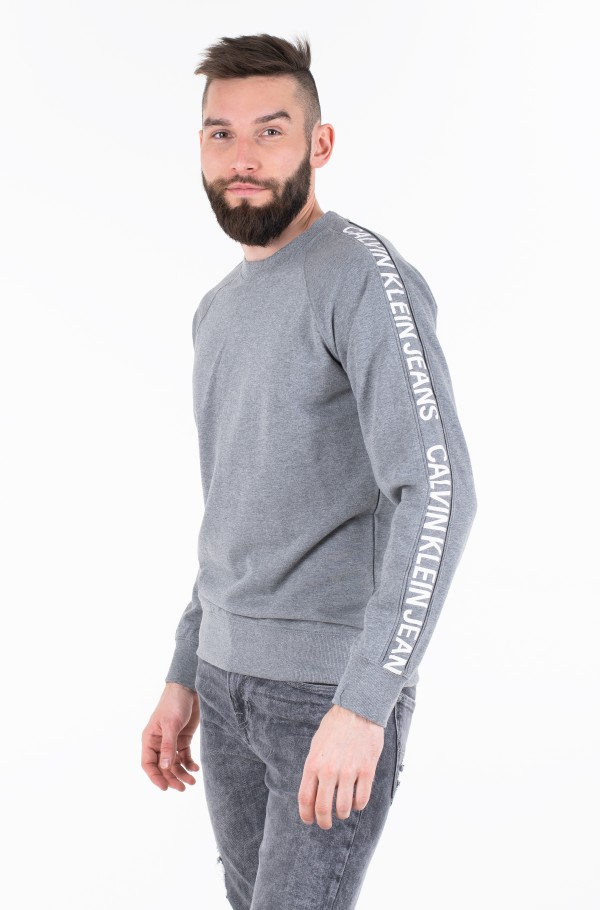 INSTIT SIDE STRIPE CREW NECK