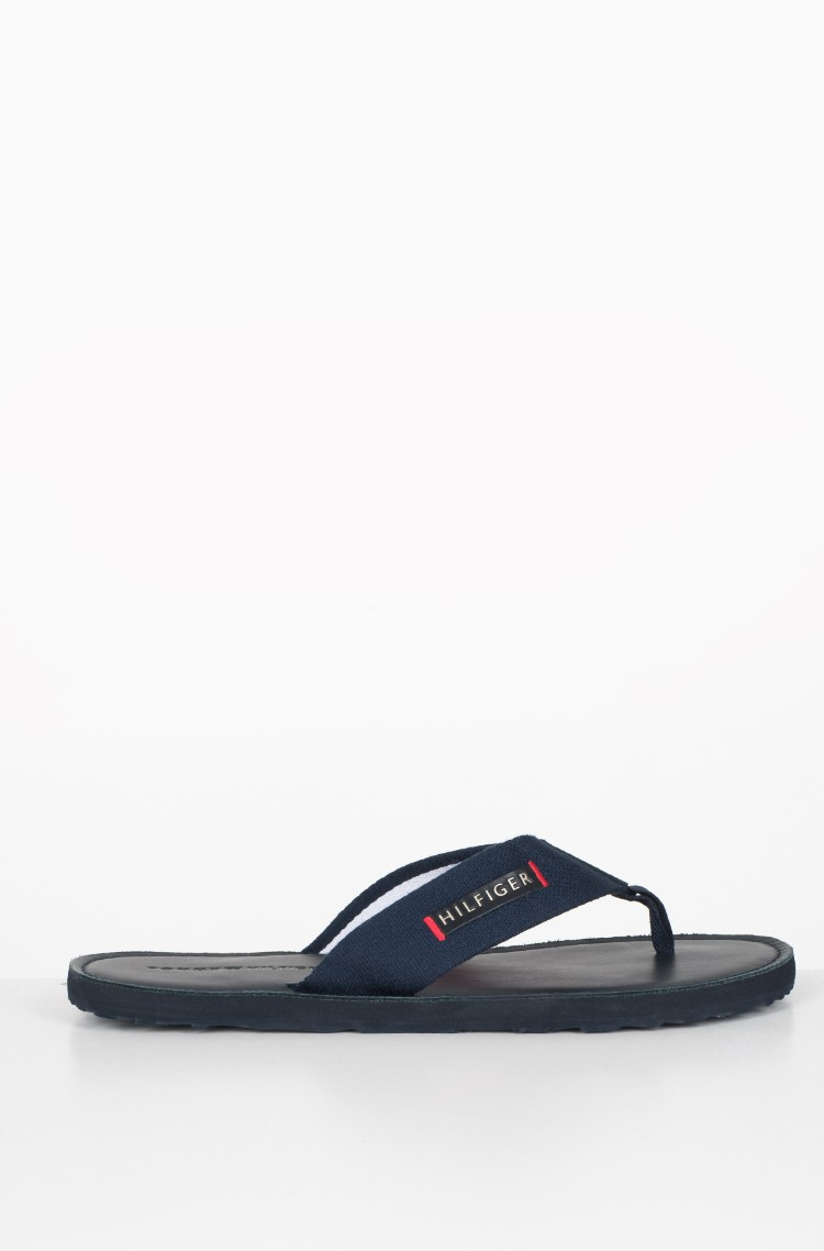 5861341c8218 black Flip-flops ELEVATED LEATHER BEACH SANDAL Tommy Hilfiger