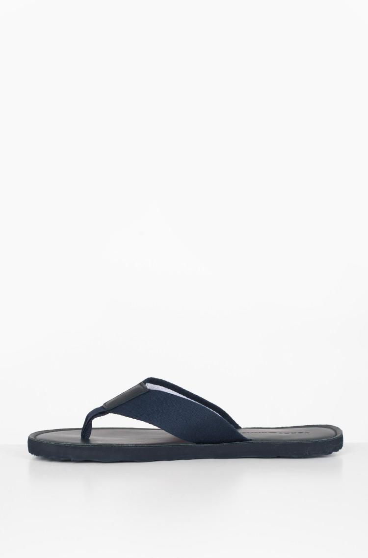 5861341c8218 black Flip-flops ELEVATED LEATHER BEACH SANDAL Tommy Hilfiger