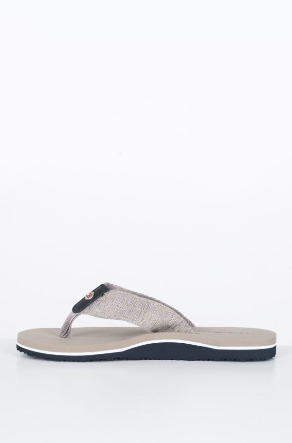 FLAT BEACH SANDAL SHINY JACQUARD-hover