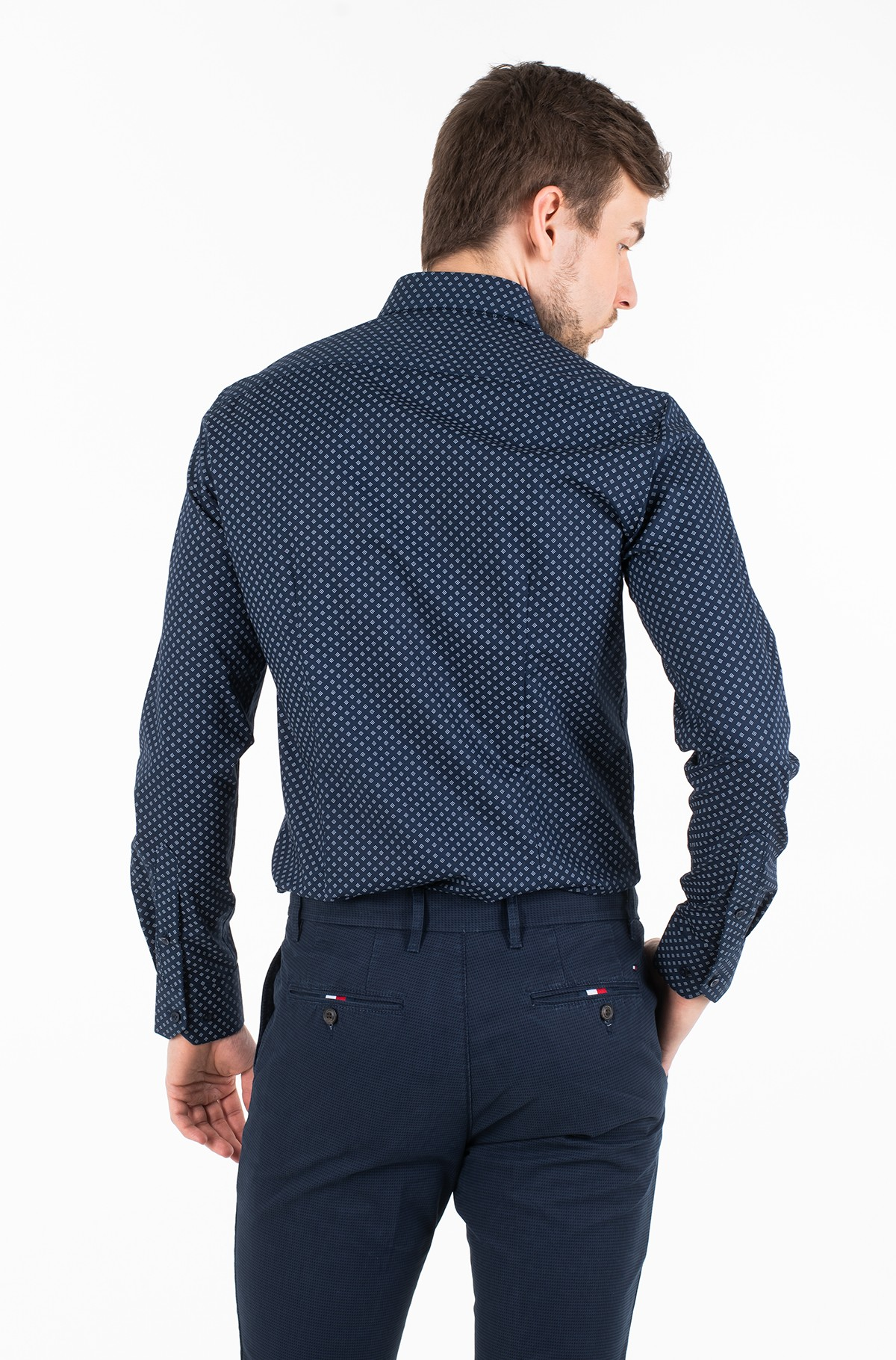 Marškiniai PRINT STRETCH CLASSIC SLIM SHIRT-full-2
