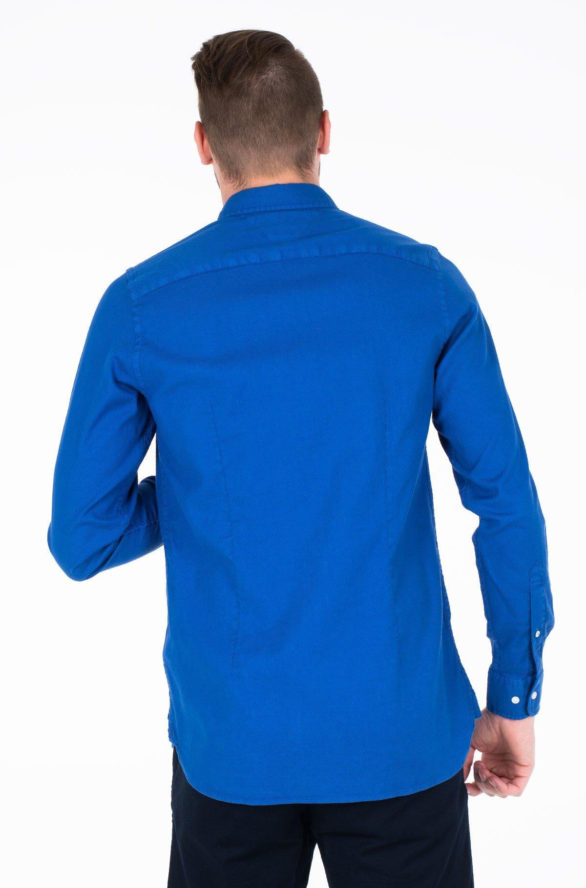 Marškiniai SLIM GARMENT DYED DOBBY SHIRT-full-2