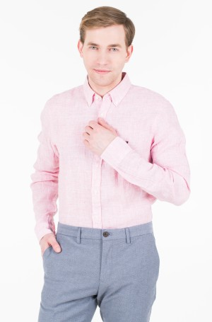 Marškiniai SLIM MELANGE LINEN SHIRT-1