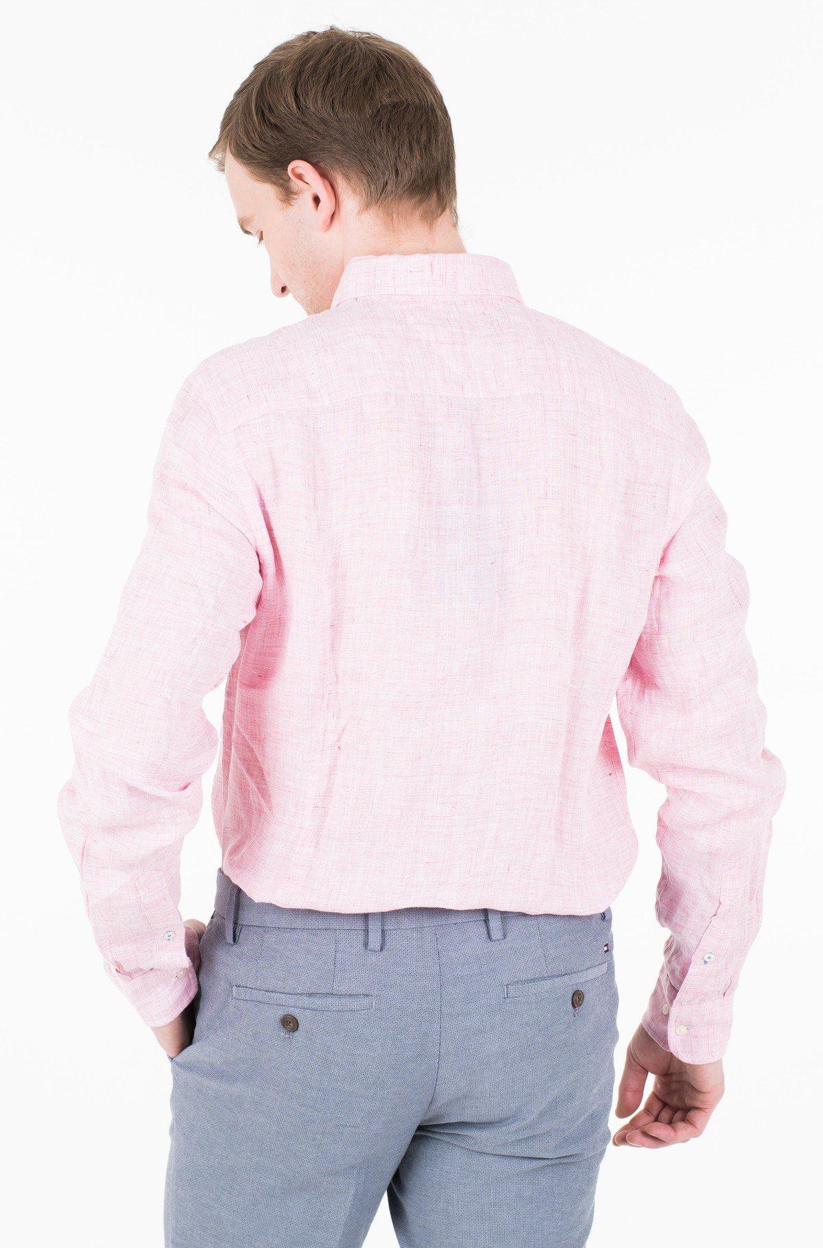 Marškiniai SLIM MELANGE LINEN SHIRT-full-2