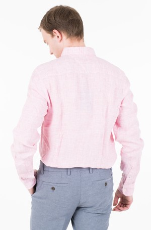 Marškiniai SLIM MELANGE LINEN SHIRT-2