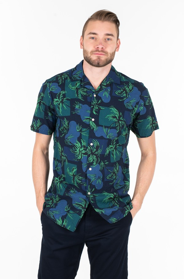 PALM TREE PRINT SHIRT S/S