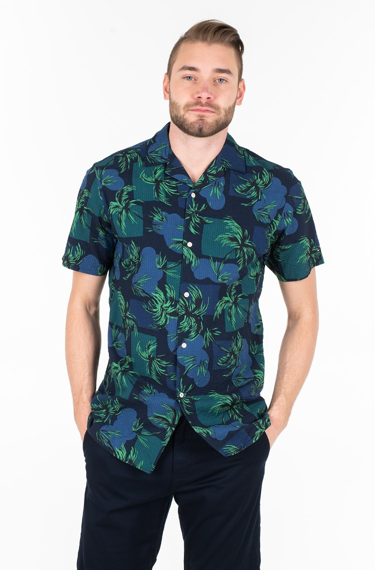 19ae7227fe210 Short sleeve shirt PALM TREE PRINT SHIRT S/S Tommy Hilfiger, Mens ...