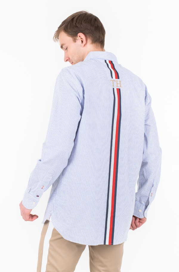 ICON OVERSIZED STRIPE SHIRT-hover