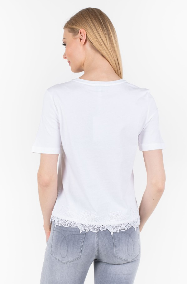 BIBI C-NK LACE TOP 1/2 SLV-hover