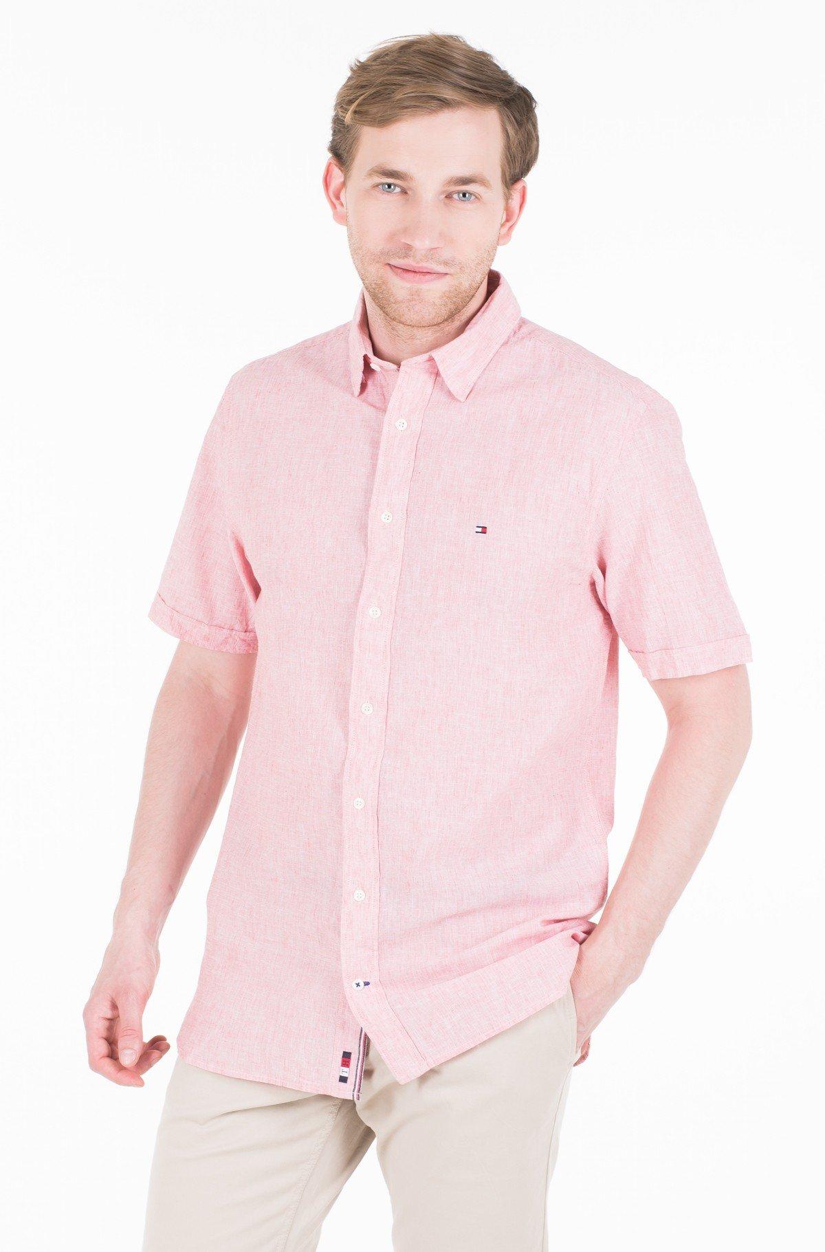 Marškiniai su trumpomis rankovėmis COTTON LINEN SHIRT S/S-full-1