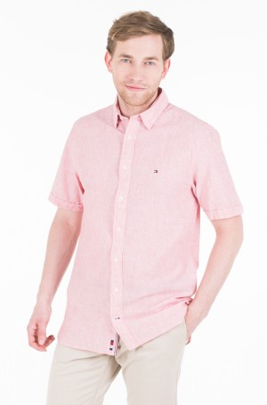 Marškiniai su trumpomis rankovėmis COTTON LINEN SHIRT S/S-1