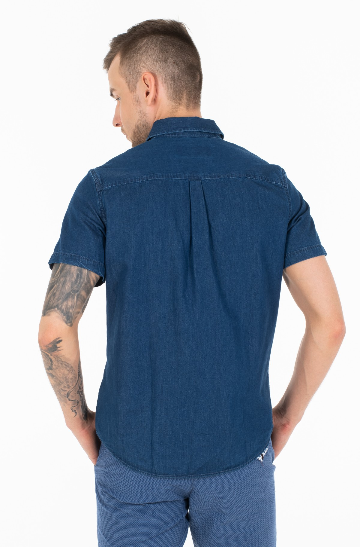 Marškiniai su trumpomis rankovėmis INDIGO INSTIT POCKET REG SS-full-2