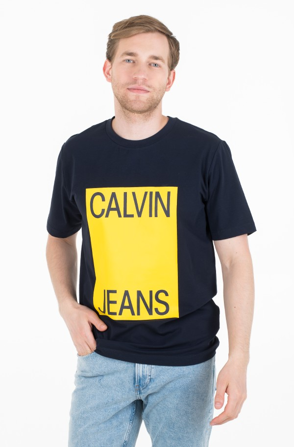 CALVIN JEANS BOX FRONT SS TEE