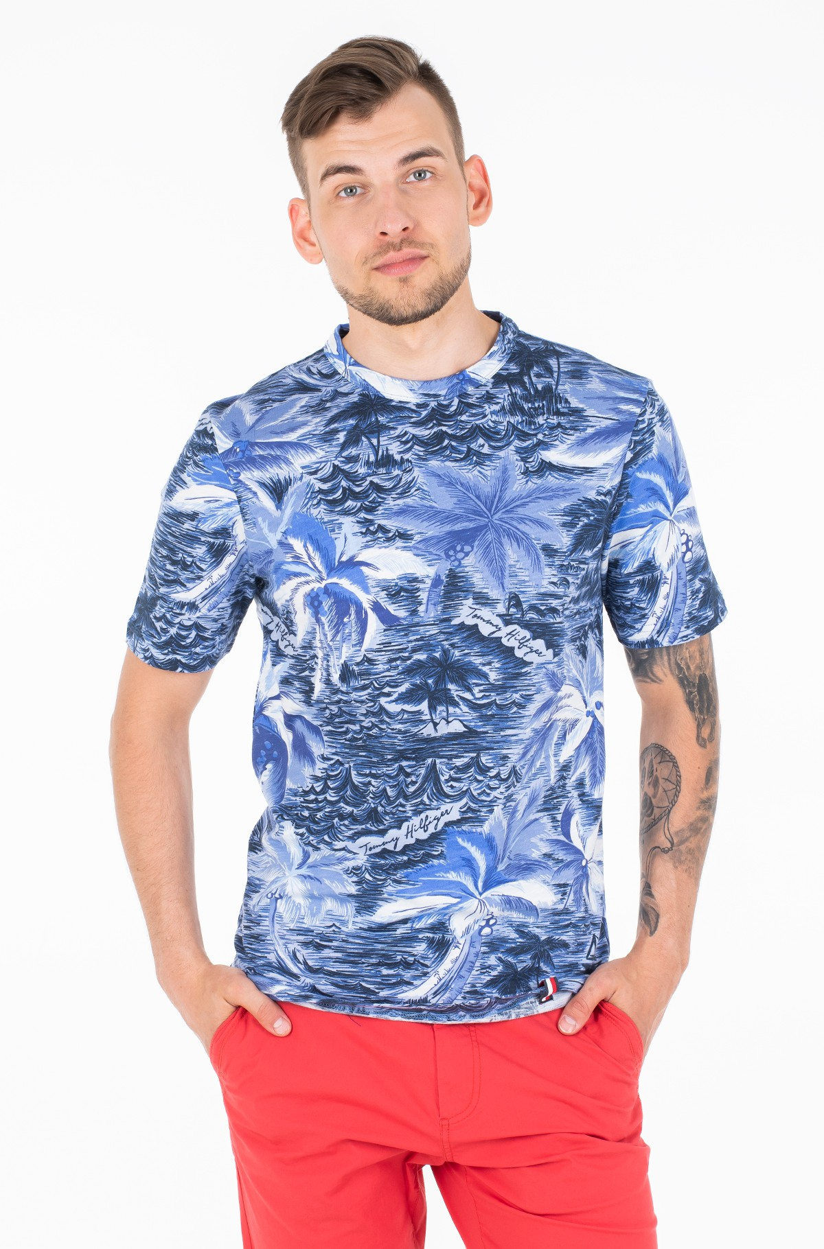 Marškinėliai PALM ALL OVER PRINT TEE-full-1