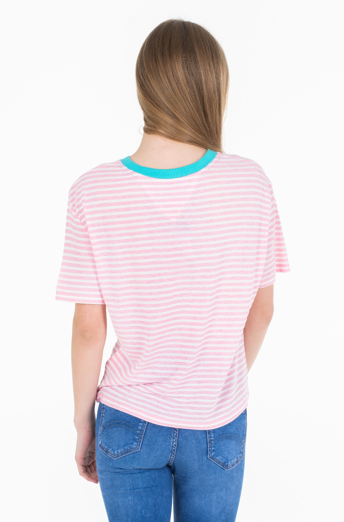 Marškinėliai TJW SUMMER CONTRAST RIB TEE-full-2