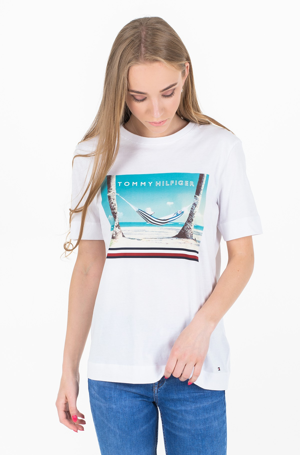 Marškinėliai BONNIE C-NK TEE SS-full-1