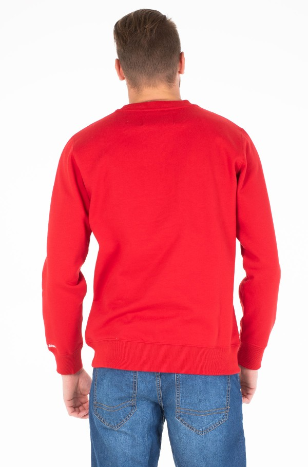 CK CHEST BADGE CREW NECK-hover