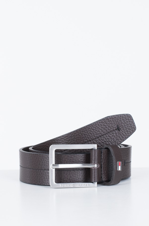 MODERN PEBBLE LEATHER BELT 3.5