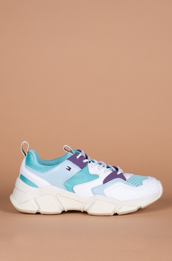 WMN CHUNKY MIXED TEXTILE TRAINER
