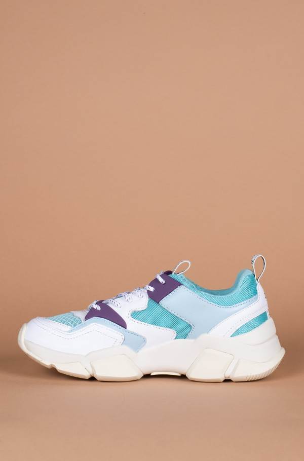 WMN CHUNKY MIXED TEXTILE TRAINER-hover