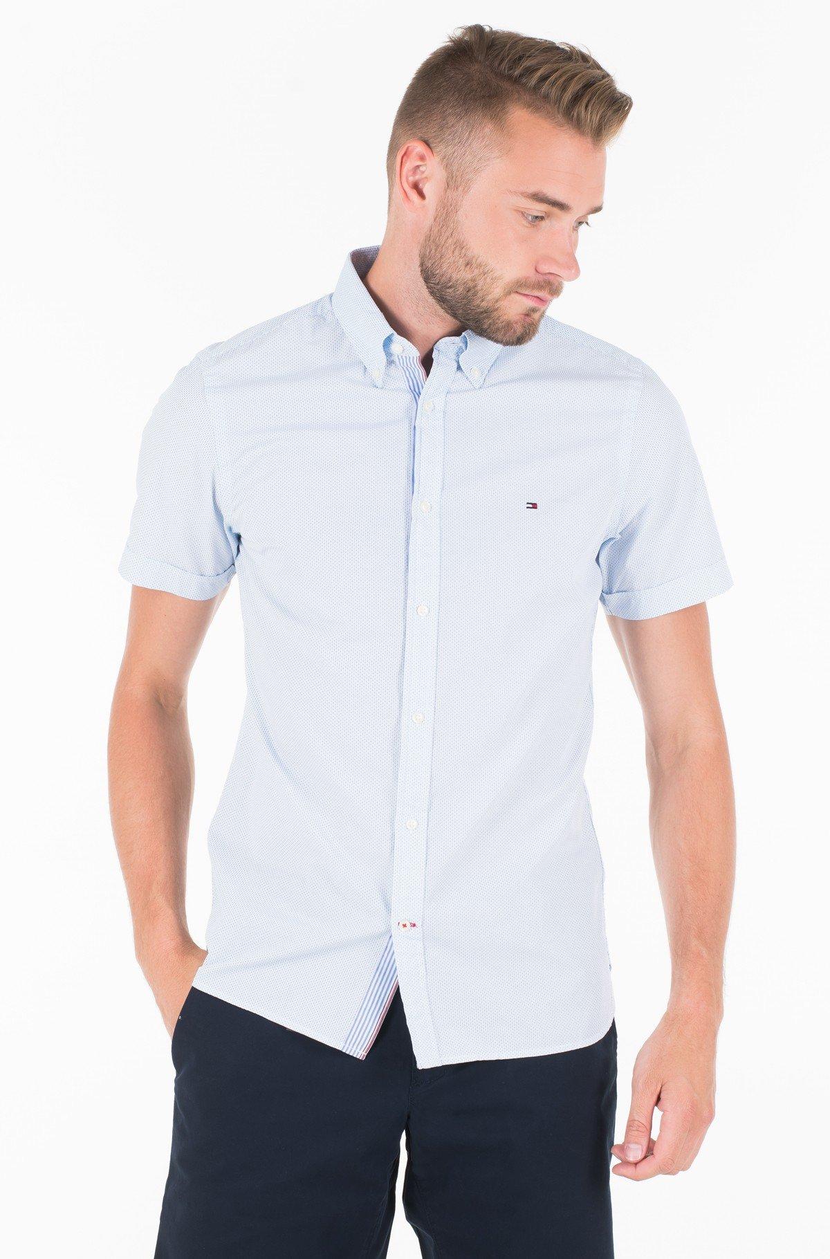 Marškiniai SLIM MINI PRINT SHIRT S/S-full-1