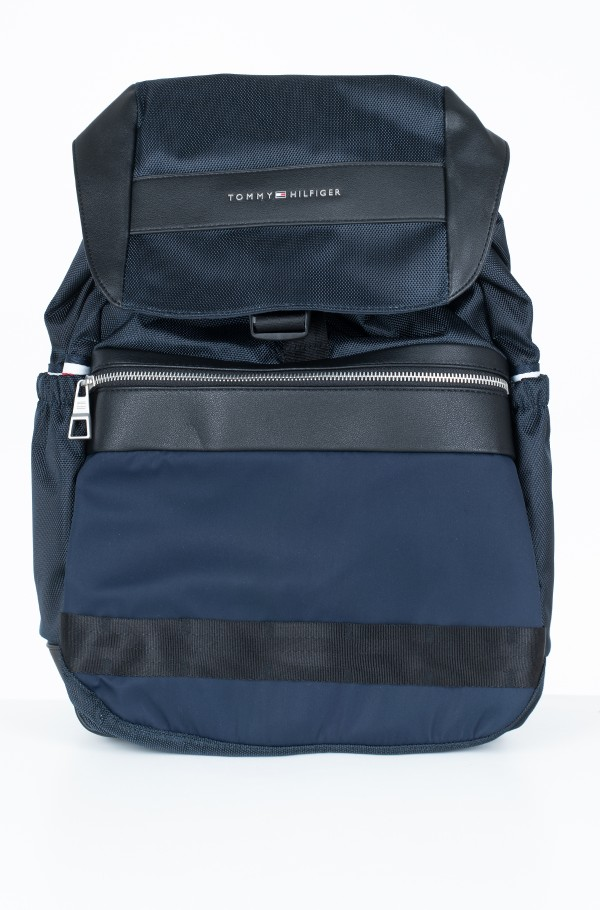 NYLON MIX FLAP BACKPACK