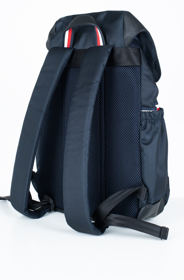 NYLON MIX FLAP BACKPACK-hover
