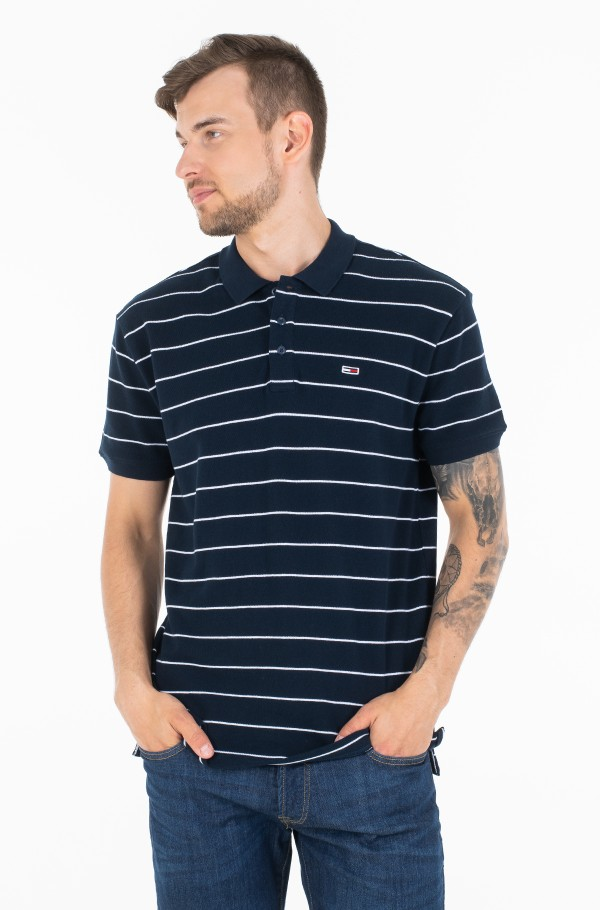 TJM ESSENTIAL FINE STRIPE POLO