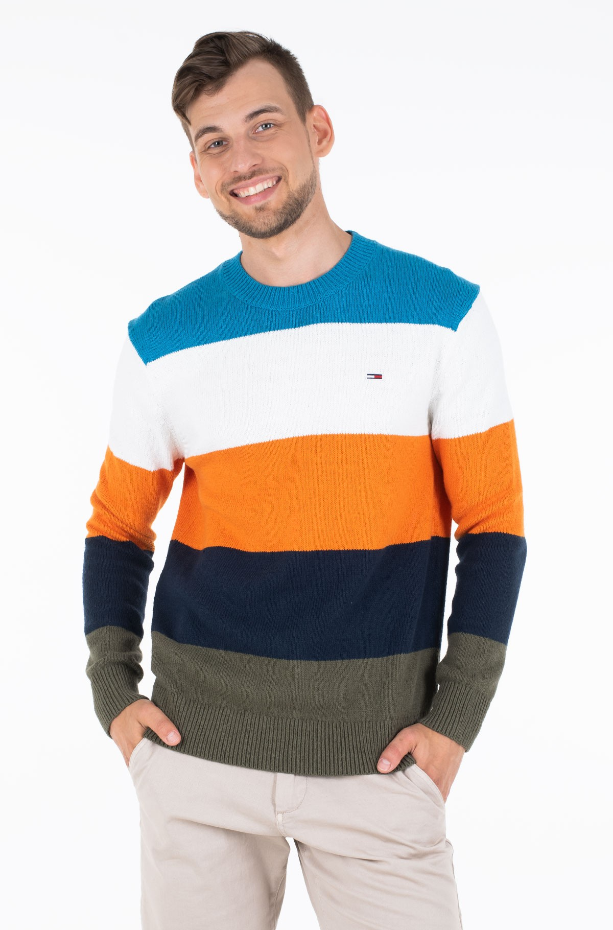 Sviiter TJM COLORBLOCKING SWEATER-full-1