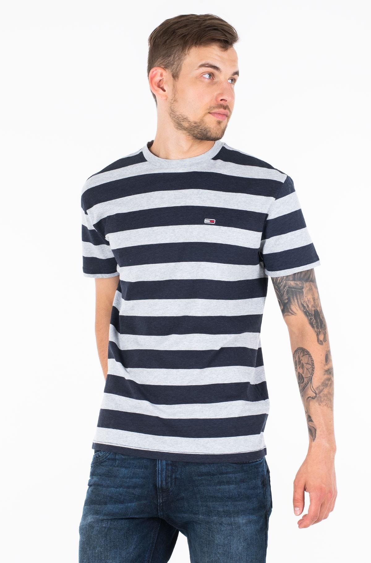 Marškinėliai TJM HEATHER STRIPE TEE-full-1
